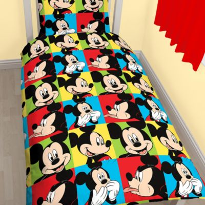 Mickey Mouse Single Duvet Cover Set