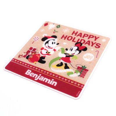 Mickey Mouse And Friends Personalised Festive Placemat Set For Kids