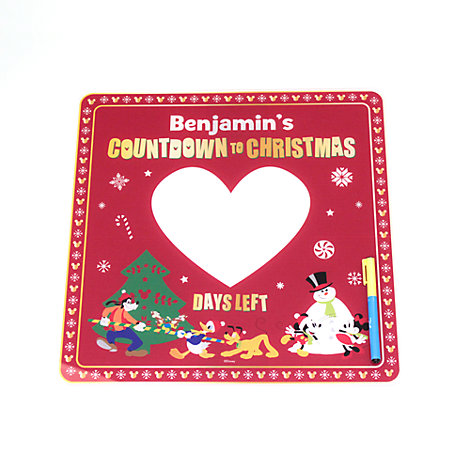 Mickey Mouse And Friends Personalised Festive Christmas Countdown Board