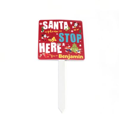 Mickey Mouse And Friends Personalised Santa Stop Here Sign