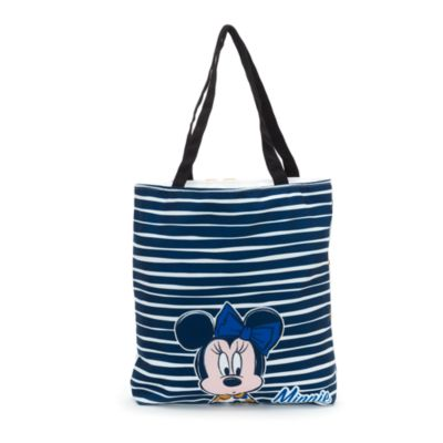 Minnie Mouse Personalised Striped Tote Bag