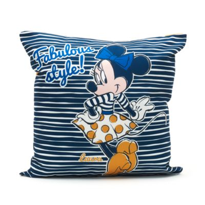 Minnie Mouse Personalised Striped Cushion