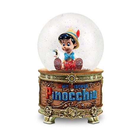 Bola de nieve Pinocho con luces y música