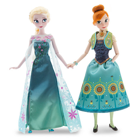 set bambole anna ed elsa serie frozen fever. Black Bedroom Furniture Sets. Home Design Ideas