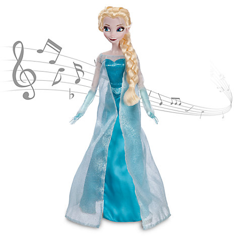Elsa fra Frost som syngende dukke