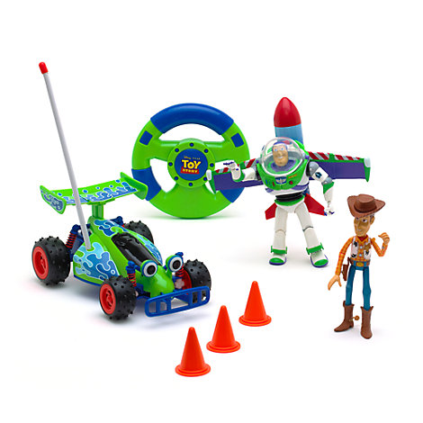 Voiture télécommandée Toy Story avec figurines Buzz et Woody