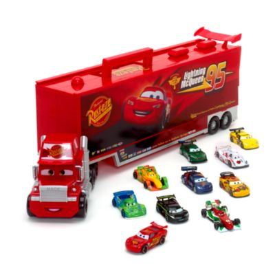 Mack parlante y set de vehículos a escala de Cars (Disney Pixar)