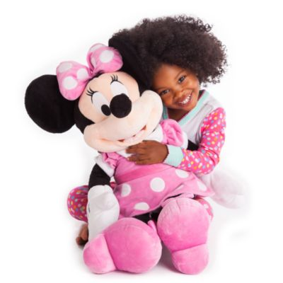 Grande peluche Minnie Mouse rose