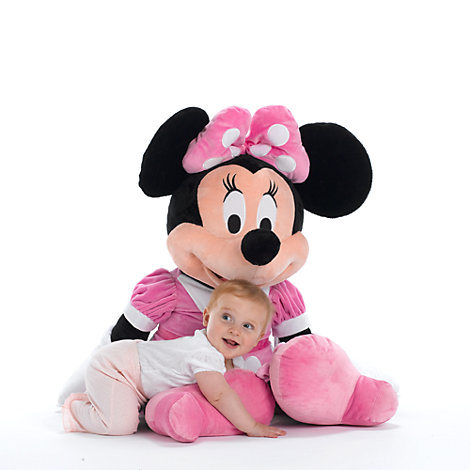 Kæmpe Minnie Mouse klubhus-plysdyr 90 cm