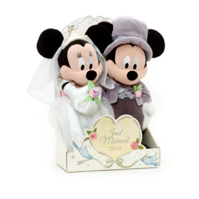 Mickey and Minnie Mouse Wedding Soft Toy