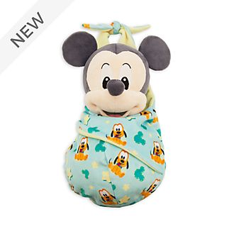 Disney Store Mickey Mouse Small Soft Toy in Pouch