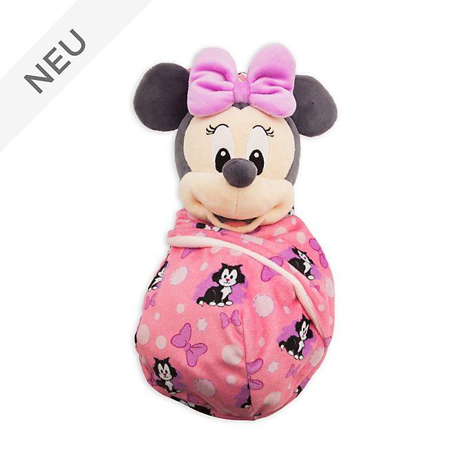 Disney Store - Minnie Maus - Kuscheltier in Wickeldecke