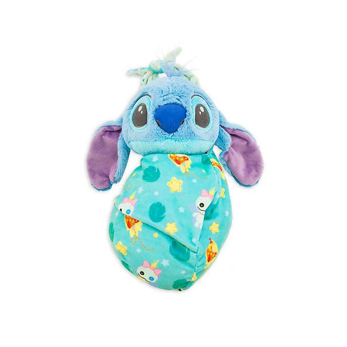 Disney Store Stitch Small Soft Toy in Pouch
