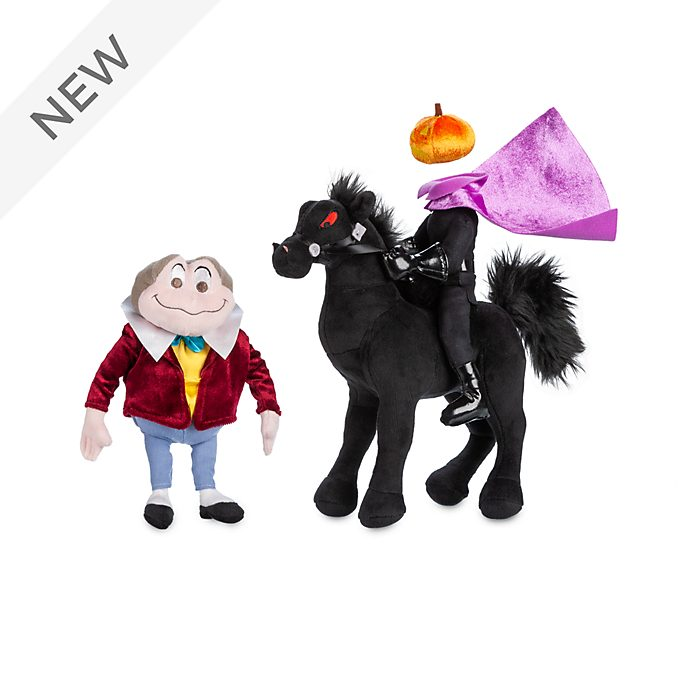 Disney Store Mr. Toad and the Headless Horseman Soft Toy Set