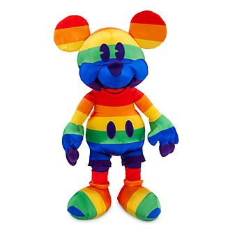 Disney Store Peluche Mickey, collection Rainbow Disney