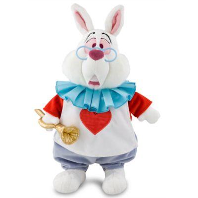 peluche de taille moyenne le lapin blanc alice au pays des merveilles. Black Bedroom Furniture Sets. Home Design Ideas