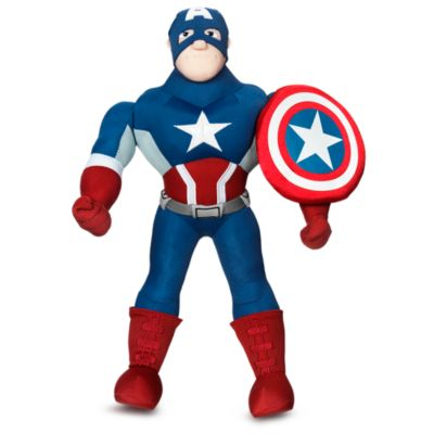 Mellemstort Captain America plysdyr