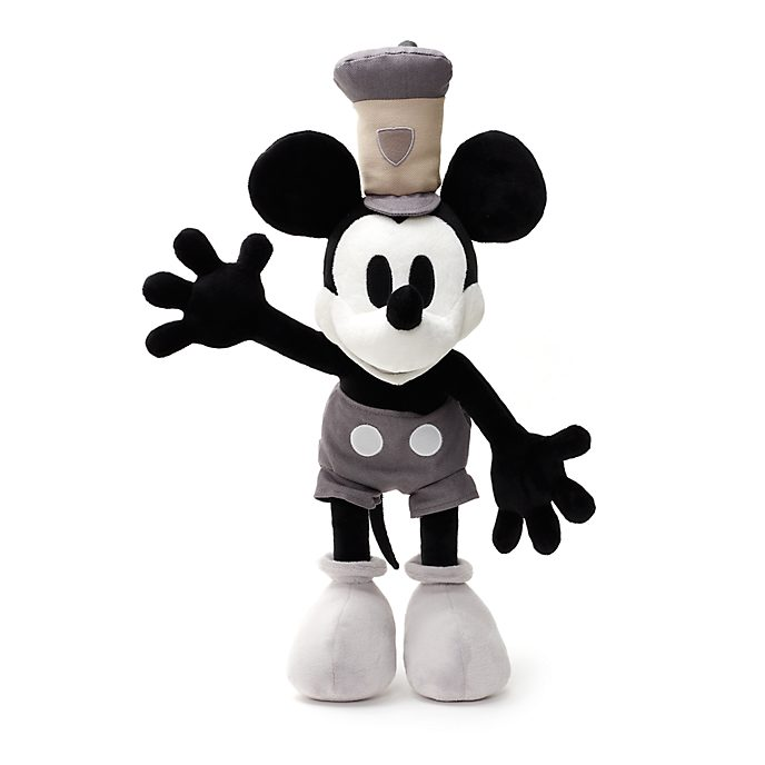 Peluche Mickey Mouse Steamboat Willie de taille moyenne