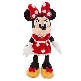 Disney Store Peluche Minnie Mouse rouge de taille moyenne