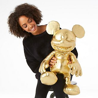 Peluche grande Mickey Mouse, colección dorada, Disney Store