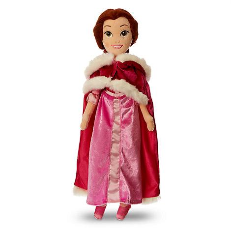 Poupée en peluche Belle en robe rose de La Belle et la Bête