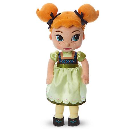 Peluche piccolo Anna collezione Disney Animators, Frozen - Il Regno di Ghiaccio