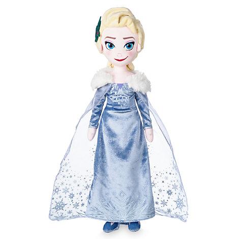 Olaf taut auf - Elsa Stoffpuppe