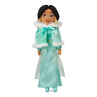 Muñeca peluche vestido invierno princesa Yasmín, Disney Store