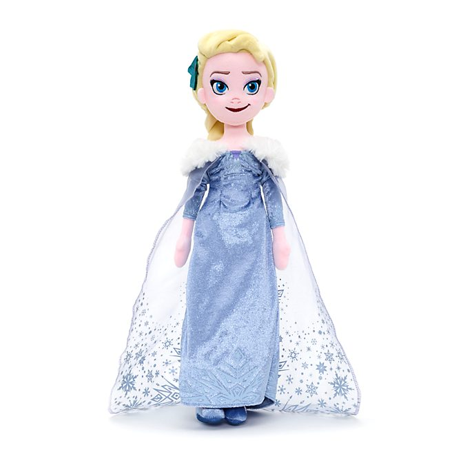 Disney Store Elsa Soft Toy Doll, Olaf's Frozen Adventure
