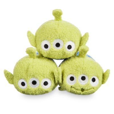 Rocket With 3 Alien Tsum Tsum Mini Soft Toys, Toy Story
