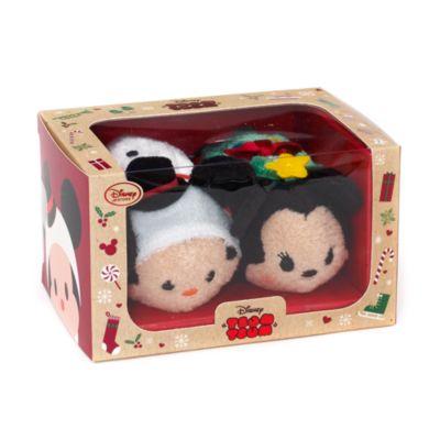 Mickey And Minnie Christmas Tsum Tsum Mini Soft Toy Set
