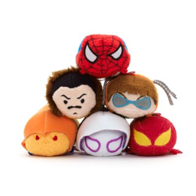Spider-Man Tsum Tsum Mini Soft Toy Bundle, Marvel