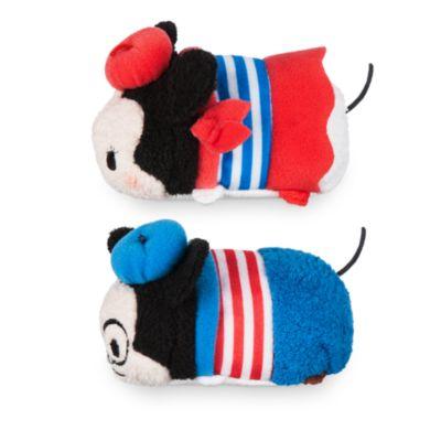 Musse och Mimmi Pigg i Paris små Tsum Tsum-gosedjur