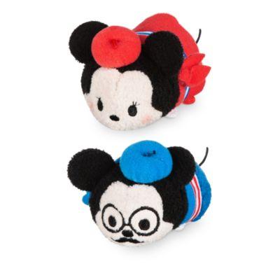 Lille Mickey og Minnie Mouse Tsum Tsum plysdyr med Paris-tema