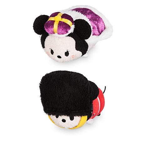 Lille Mickey og Minnie Mouse Tsum Tsum plysdyr med London-tema