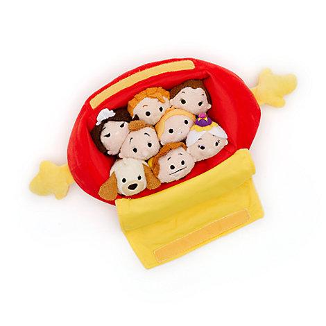 Skønheden og udyret Tsum Tsum sæt med pose og små plysdyr