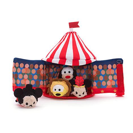 Tsum Tsum cirkustelt plyslegetøjssæt i ministørrelse