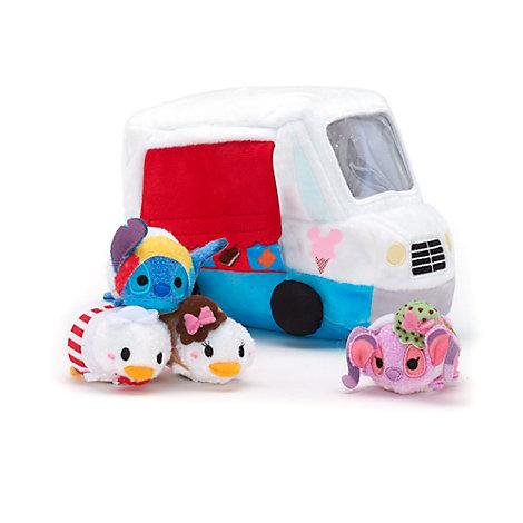 Ensemble de micro peluches Tsum Tsum et leur camion à glaces