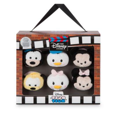 Ensemble de 6mini peluches Tsum Tsum, 30eanniversaire du Disney Store