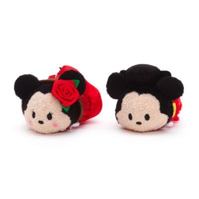 Musse och Mimmi Pigg, set med små Tsum Tsum-gosedockor med spanskt tema