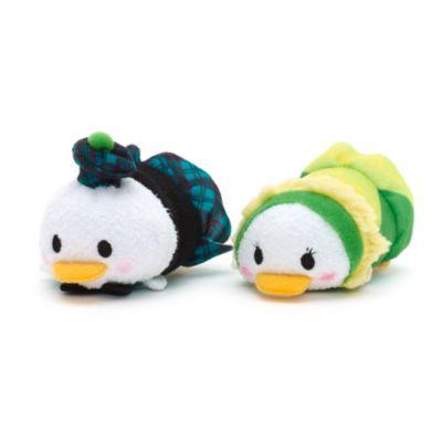 Set di mini peluche Tsum Tsum con costumi irlandesi, Paperino e Paperina