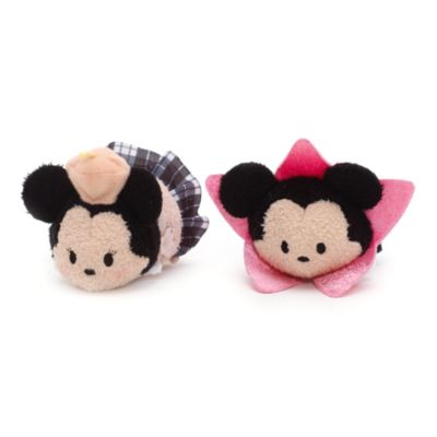 Mickey and Minnie Mouse Los Angeles Themed Mini Tsum Tsum Soft Toy Set