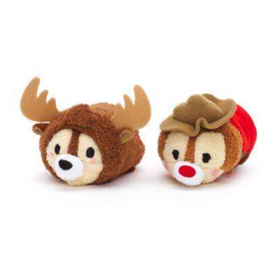 Chip og Chap Tsum Tsum plyslegetøjssæt i ministørrelse med canadisk tema