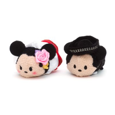 Mickey and Minnie Mouse Mexico Themed Mini Tsum Tsum Soft Toy Set