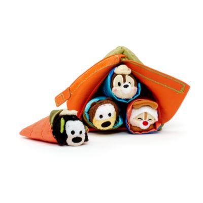 Ensemble de micro peluches Tsum Tsum au camping