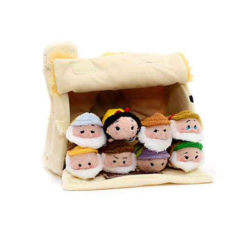 Snehvide og de syv små dværge Tsum Tsum plyslegetøjssæt i ministørrelse