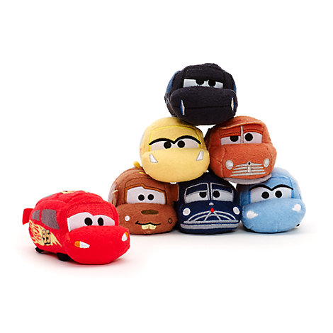 Disney Pixar Cars 3 Tsum Tsum Mini Soft Toy Bundle