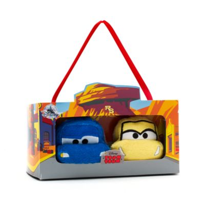 Disney Pixar Bilar 3, små Tsum Tsum plysdyr, sæt med 2 stk.