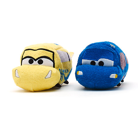 Disney Pixar Cars 3 Tsum Tsum Mini Soft Toys, Set of 2