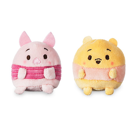Ensemble de peluches miniatures Ufufy parfumées Winnie et Porcinet, Winnie l'Ourson